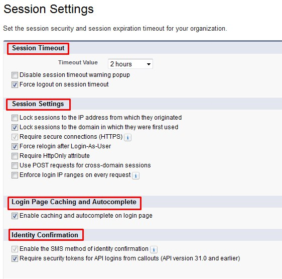 Session Settings in Salesforce | Md A K M Sariful Islam